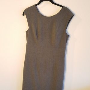 Gray/grey work dress